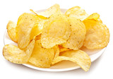 Potato chips in a bowl.