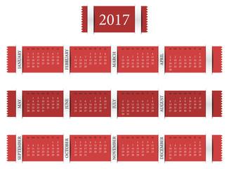 Calendar for year 2017