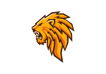 lion head sport mascot