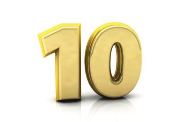 3d number ten