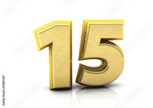 3d number fifteen