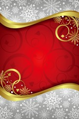 Christmas Curve Frame Background