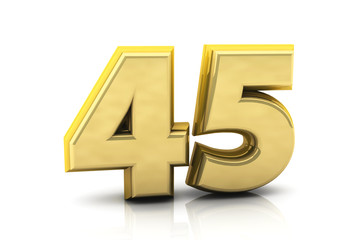 3d number forty five