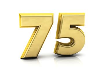 3d number seventy five