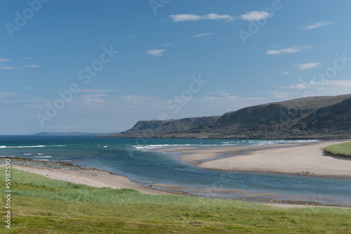 River mouth, Atlantic Ocean, Varanger Peninsula, Norway