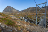 Hiking bridge on the Kungsleden