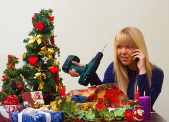 girl disappointed over undesirable christmas gift