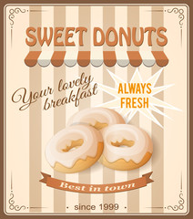 banner sweet donuts