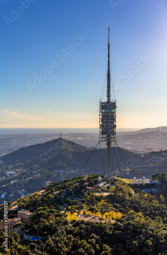 Torre de Collserola - TV tower in Barcelona, Spain