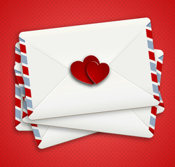 Love letter in airpost envelope