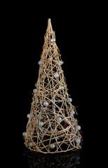 Original christmas tree on dark background.