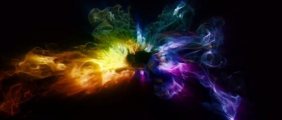 Abstract smoke flashing background