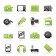 Media and technology icons - vector icon set