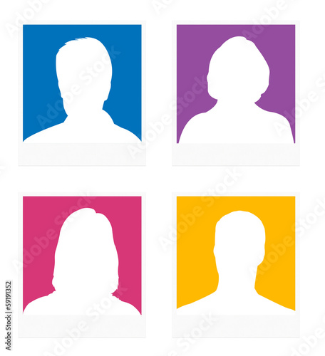 avatars colorés