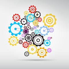 Colorful Abstract vector cogs - gears