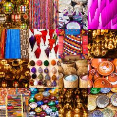 Collage mit Kunsthandwerk aus Marrakesch