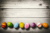 Fototapety Easter eggs on wooden background