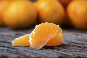 Mandarin orange segments