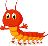 Cute centipede cartoon