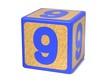 Number 9 - Childrens Alphabet Block.