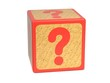 Question Mark - Childrens Alphabet Block.