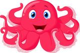 Fototapety Cute octopus cartoon