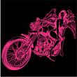 女性とバイク