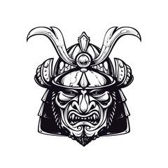 Samurai mask clip-art