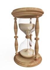 Wooden Hourglass in 3D