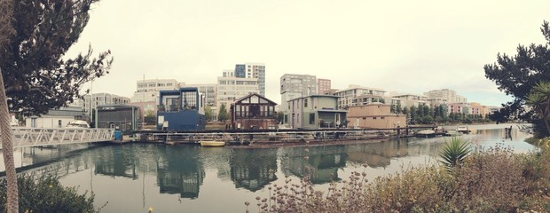 houseboats on the bay