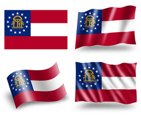 Flag of Georgia U.S. State