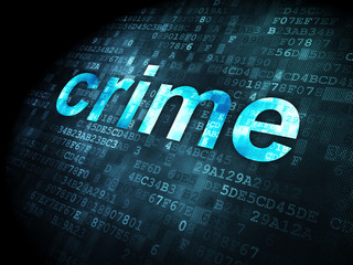 Privacy concept: Crime on digital background