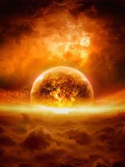 Exploding planet