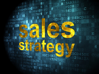 Advertising concept: Sales Strategy on digital background