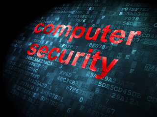 Security concept: Computer Security on digital background