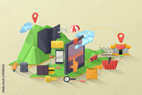 E-commerce vector illustration