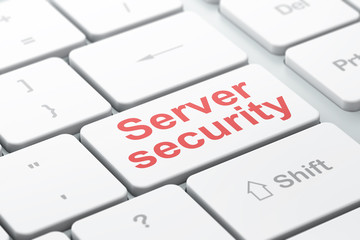 Privacy concept: Server Security on computer keyboard background