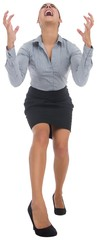 Furious businesswoman gesturing