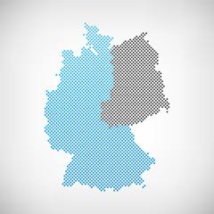 Karte Westdeutschland