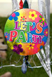 Vintage let's party sign hanging
