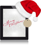 Merry Christmas with tablet