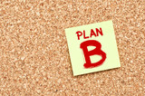 Plan B on Cork board with Note Paper