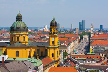 Munich Panorama.Theatine Church