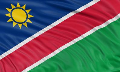 3D Namibia flag