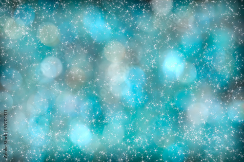 Turquoise Aqua Abstract Starlight Bokeh Background