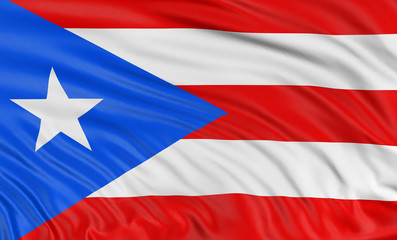 3D flag of Puerto Rico