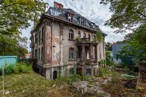Forgotten century-old mansion. Gdansk - Poland.