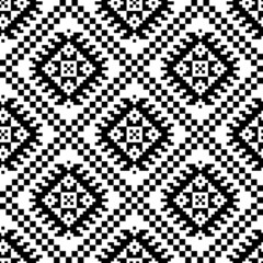 monochromatic ethnic seamless background.