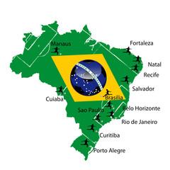 Spielorte  2014 Brasilien