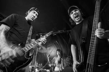 Heavy metal band playing loud music